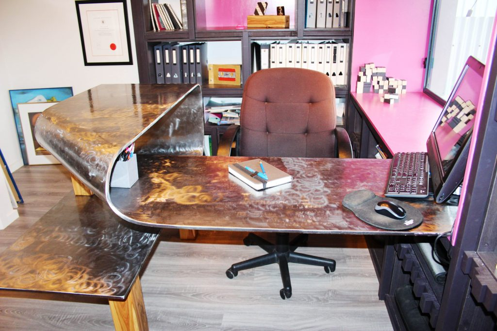 Bespoke Steel Desk & Office