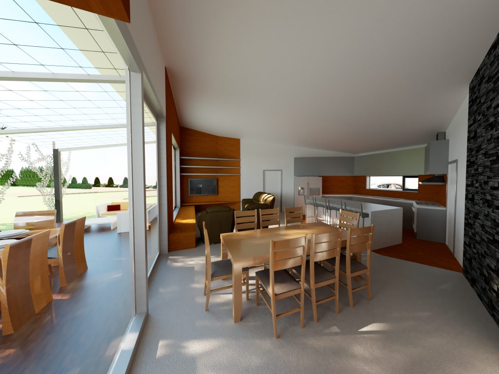 Riddells Creek Passive House- Open Living Area
