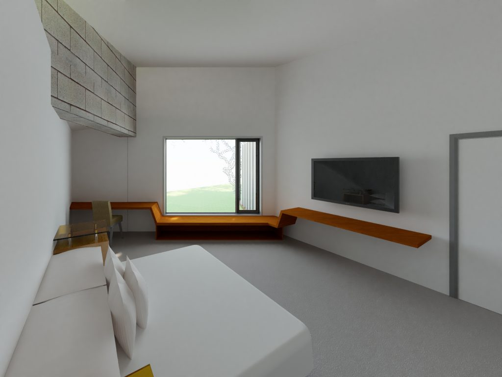 Riddells Creek Passive House- Master Bedroom