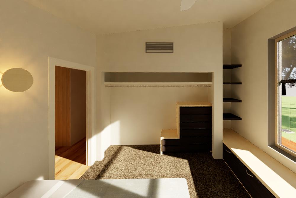 Riddells Creek Passive House- Bedroom