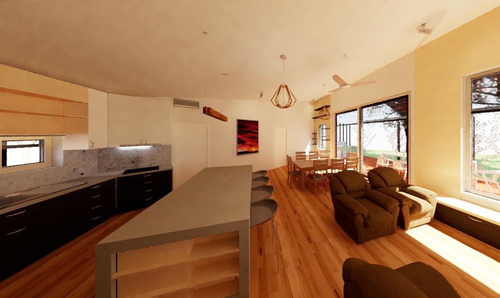 Riddells Creek Passive House- Open Living Area